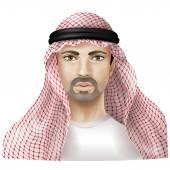 Man dressed in keffiyeh — Stock Vector