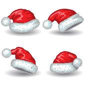 Santa Claus hats.  — Stock Vector