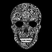 Human skull in floral shape  — Cтоковый вектор