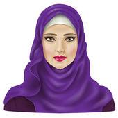 Muslimisches Mädchen — Stockvektor