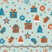 Christmas Retro Pattern — Stock Vector