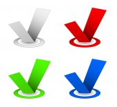 Checkbox icon set — Stock Vector