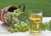 Glass of White Grape Juice — Stock Photo