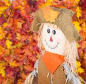 Smiling Scarecrow — Stock Photo