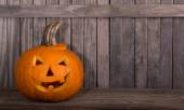 Carved pompkin — Stock Photo