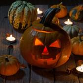 Candle Lit Pumpkin — Stock Photo