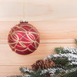 Red and Gold Christmas Ball — Stock Photo #59172107