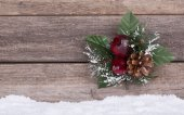 Christmas Ornament on Wooden Background — Stock Photo