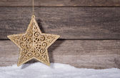 Christmas Gold Star — Stock Photo
