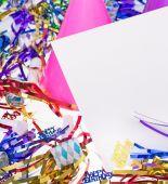 Birthday party dekorace — Stock fotografie