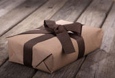 Brown Gift Package — Stock Photo