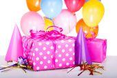 Pink Birthday Present — Stock Photo