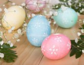 Group of Colored Easter Eggs — Stock Photo