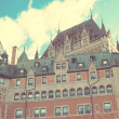 Chateau Frontenac Hotel, Quebec City, Quebec, Canada during a be — Stock Photo #59461383