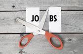 Jobs cutting concept — Stock Photo