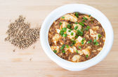 Sichuan mapo tofu, chinese food  — Stock Photo