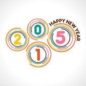 Creative happy new year 2015 — Stock Vector