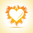 Valentine's day card with fire heart — Stock Vector #59087363
