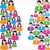 Social network concept — Stock Vector