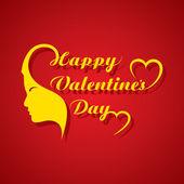Aftelkalender voor Valentijnsdag wenskaart — Stockvector