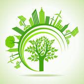 Ecology Concept. eco sity — Vector de stock