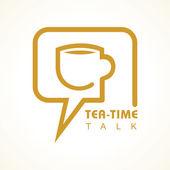 Tea  time icon — Stock Vector