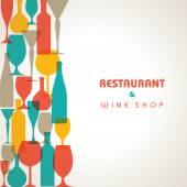 Wine shop, restaurant background — Stock Vector