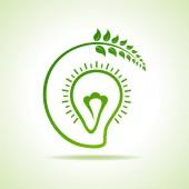 Eco light bulb — Stock Vector