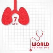 Creative World Asthma Day Greeting — Stock Vector