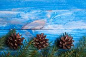 Christmas rustic background — Stockfoto