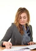 Ofiste çalışan iş kadını — Stok fotoğraf