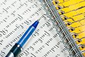 Pen and letter — ストック写真
