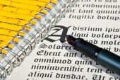 Pen and letter — Stock Photo