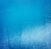 Old grungy blue painted wall — Stock Photo