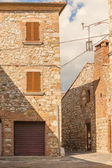 The medieval old town in Tuscany, Italy — Stockfoto
