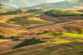 Rural landscape view of the most beautiful places on earth Val d — Stock Photo