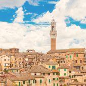 意大利锡耶纳的全景视图 — 图库照片