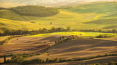 Country view in the Tuscany landscape from Pienza, Italy — Stock Photo