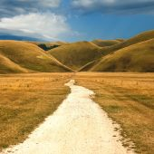 Beautiful landscapes Umbii, Castelluccio di Norcia, Italy — Stock Photo
