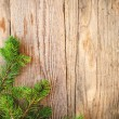 Christmas background on a wooden rustic old table — Stock Photo #53893639