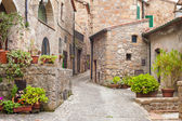 Old streets in the town of Sorano, Italy — Foto de Stock