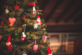 Christmas tree and Christmas decorations — Stock Photo