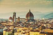 Magnificent panoramic view of Florence, Italy — Stockfoto