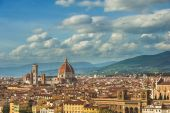 Magnificent panoramic view of Florence, Italy — Stock Photo
