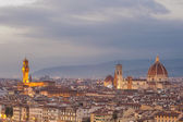 Night panorama of Florence in the beautiful framing — Stock Photo