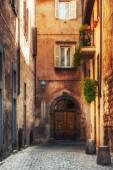 Small alley in the Tuscan village — Foto de Stock