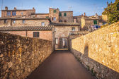 Unknown streets in the old medieval town in Italy — Stock Photo