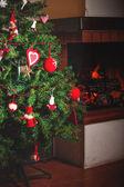 Árvore de Natal e Natal decorações — Fotografia Stock