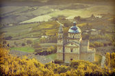Medieval building in Montepulciano, Church of San Biagio, Italy — Stock Photo