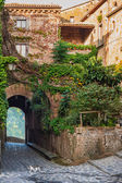 Small alley in the Tuscan village — Stock Photo
